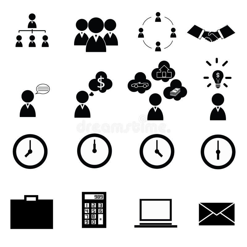 Bedrijfs pictogrammen stock afbeeldingen