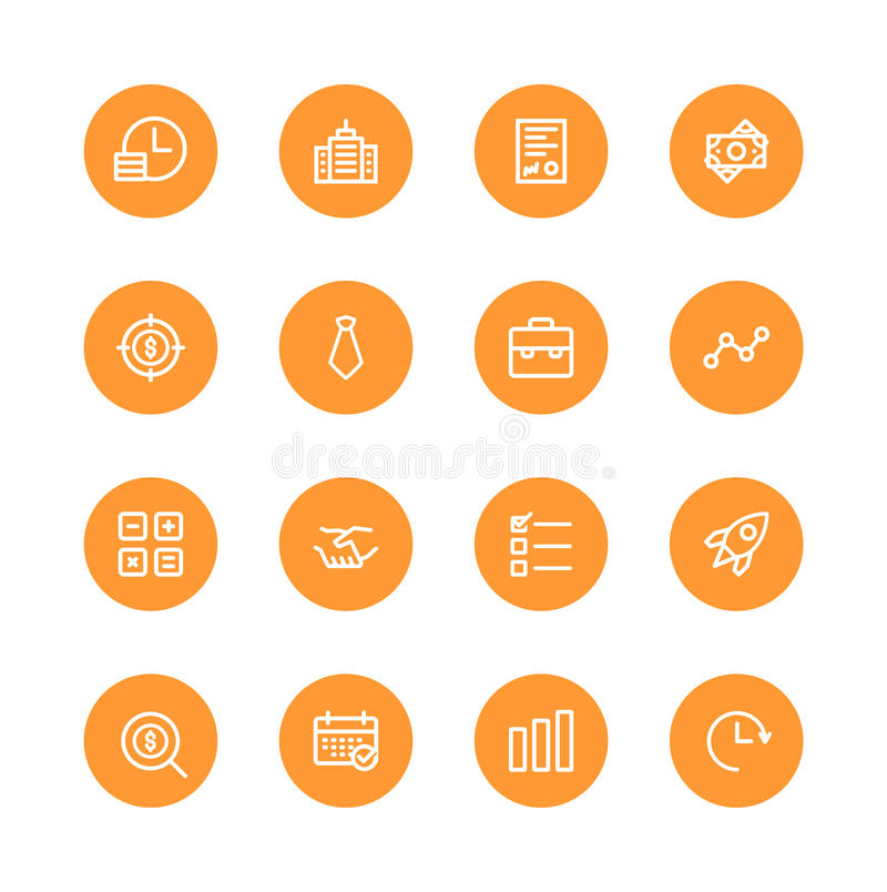 Bedrijfs pictogrammen vector illustratie