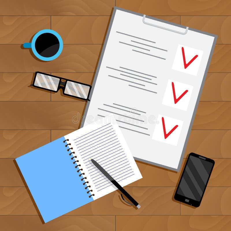Bedrijfs planning en organisatie administratie royalty-vrije illustratie
