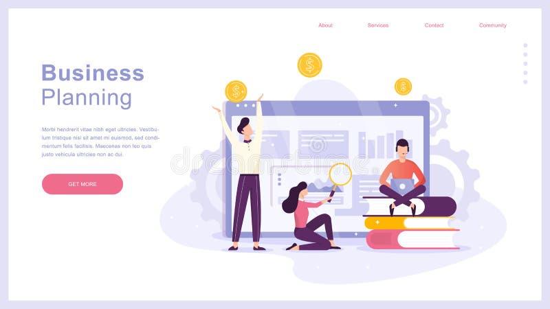 Bedrijfs planningsconcept Idee van analyse en beheer stock illustratie