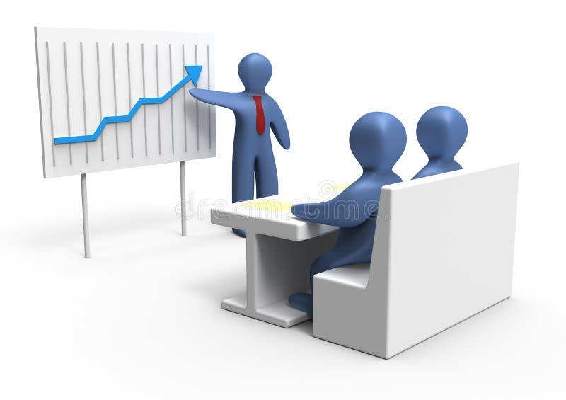 Bedrijfs presentatie vector illustratie