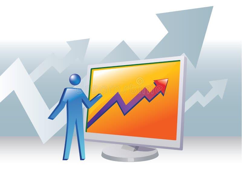 Bedrijfs Presentatie stock illustratie