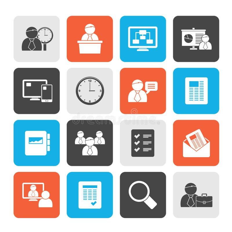 Bedrijfs, presentatie en Projectleidingspictogrammen vector illustratie