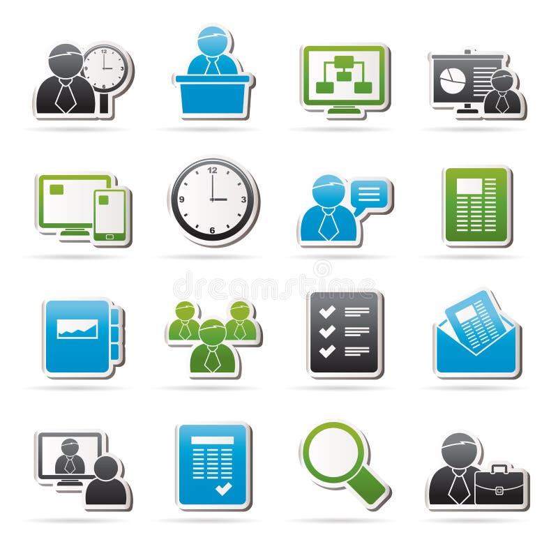 Bedrijfs, presentatie en Projectleidingspictogrammen royalty-vrije illustratie