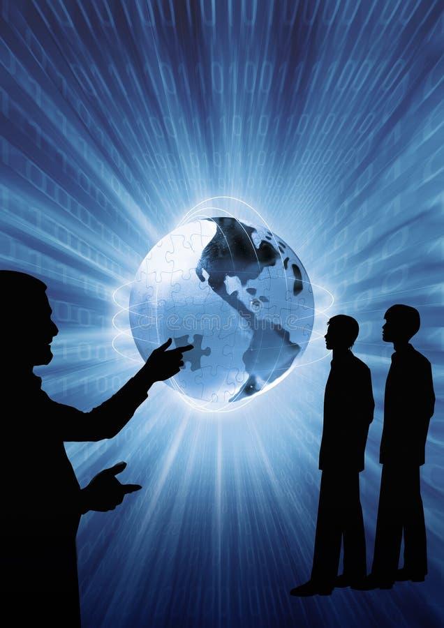Bedrijfs presentatie voor de nieuwe rekruten, conceptuele illustratie vector illustratie