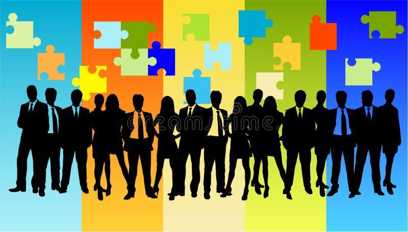 Bedrijfs probleem en oplossing vector illustratie