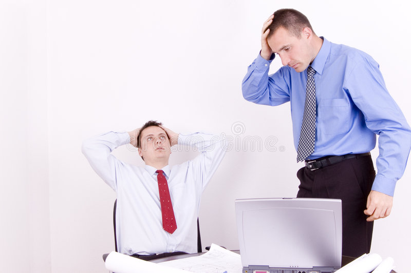 Bedrijfs problemen royalty-vrije stock foto