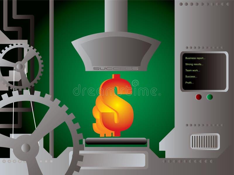 Bedrijfs productiedollar stock illustratie