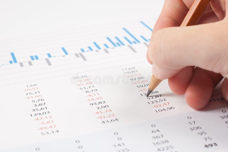 Bedrijfs rapportanalyse stock afbeelding