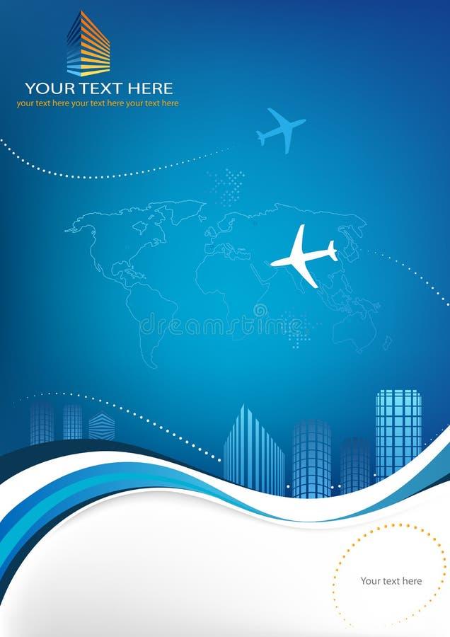 Bedrijfs reismalplaatje royalty-vrije illustratie