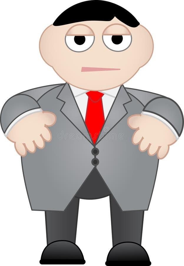 Bedrijfs Saai en Ongelukkige Mens royalty-vrije illustratie
