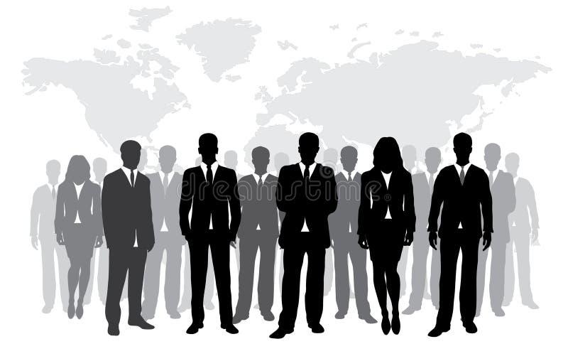 Bedrijfs silhouet royalty-vrije illustratie