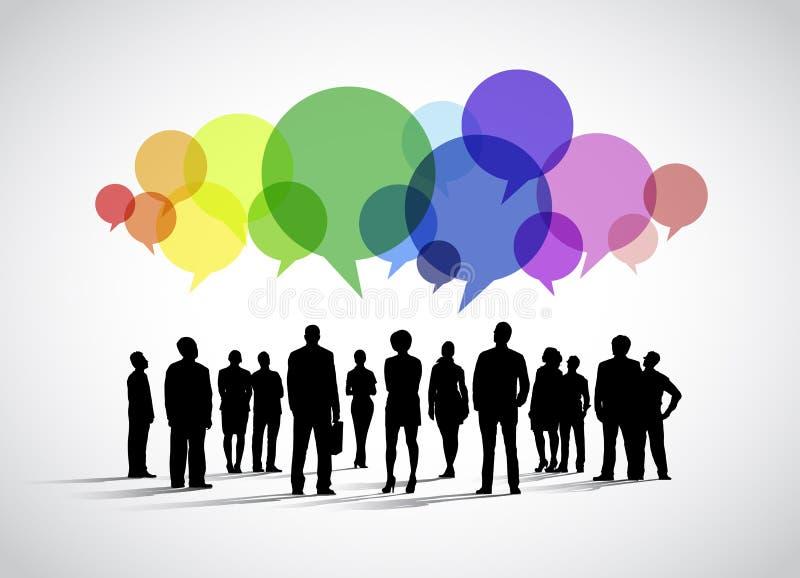 Bedrijfs Sociale Voorzien van een netwerkvector vector illustratie