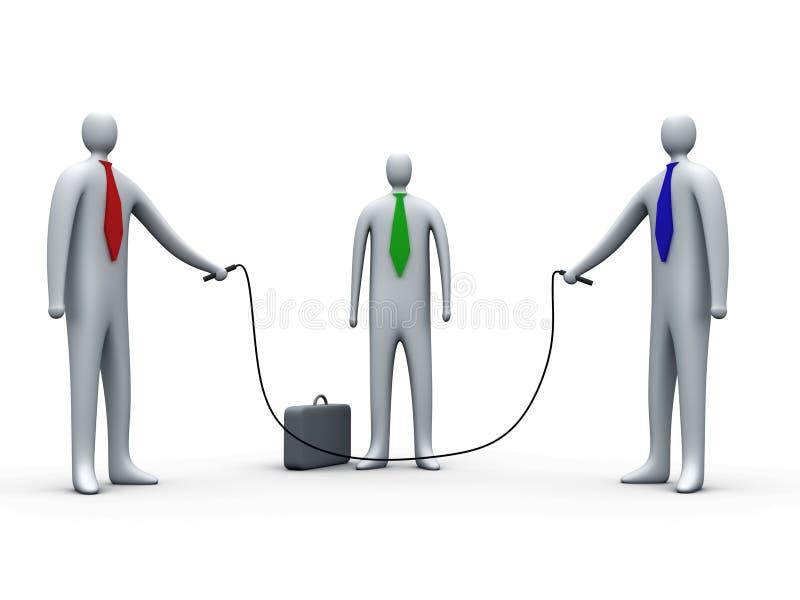 Bedrijfs sprong-kabel #1 stock illustratie
