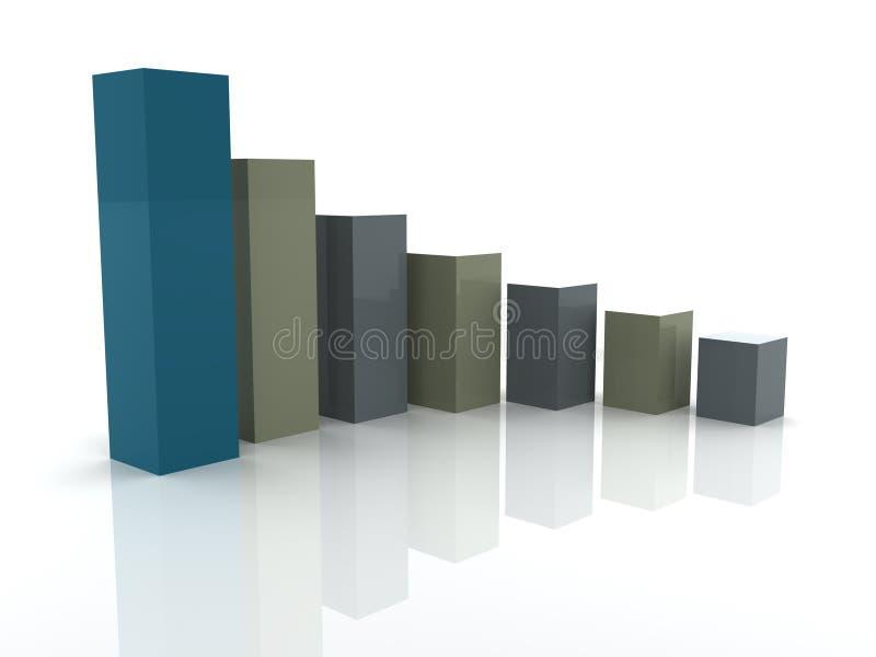 Bedrijfs statistieken stock illustratie