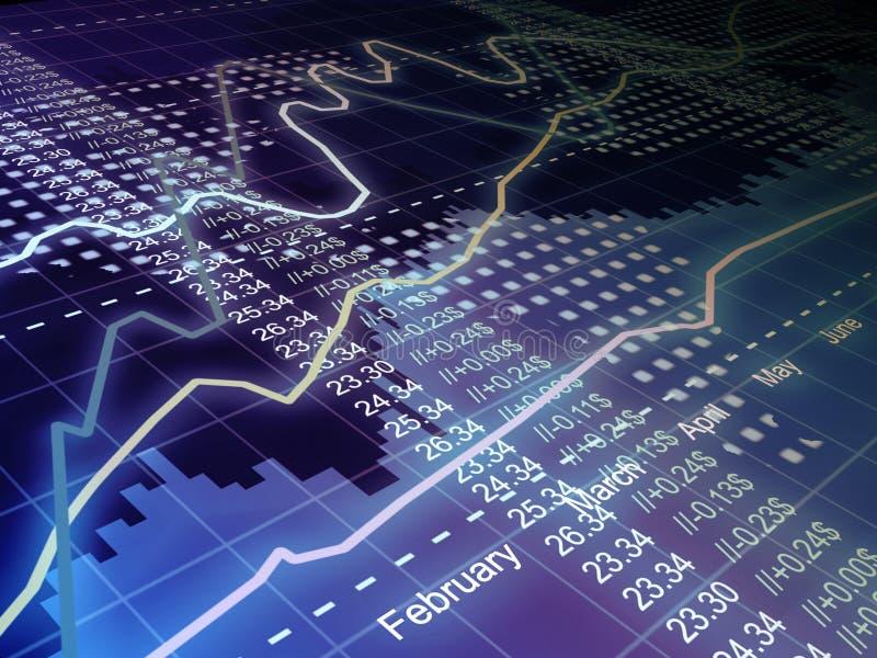 Bedrijfs statistieken en analytics stock foto