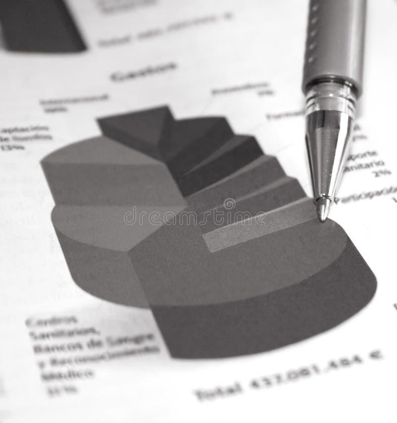 Bedrijfs statusrapport royalty-vrije stock foto