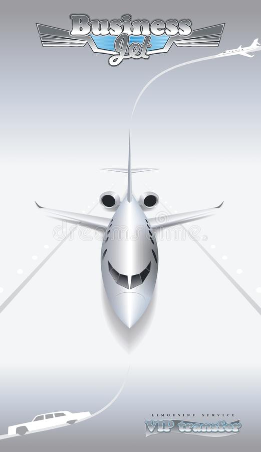 Bedrijfs luchtvaart stock illustratie
