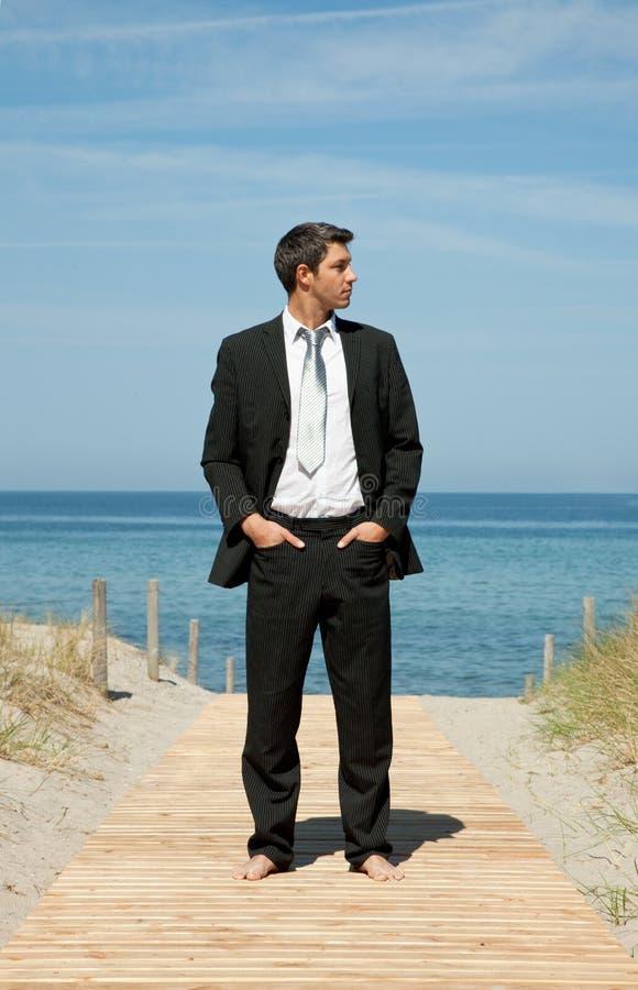 Bedrijfs strand royalty-vrije stock afbeelding