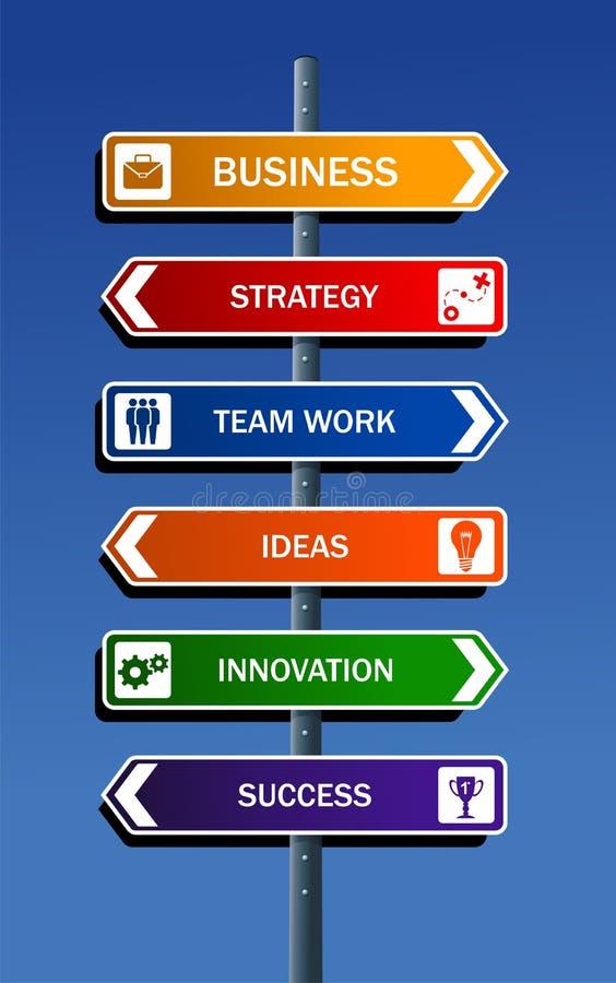 Bedrijfs strategie aan succes vector illustratie
