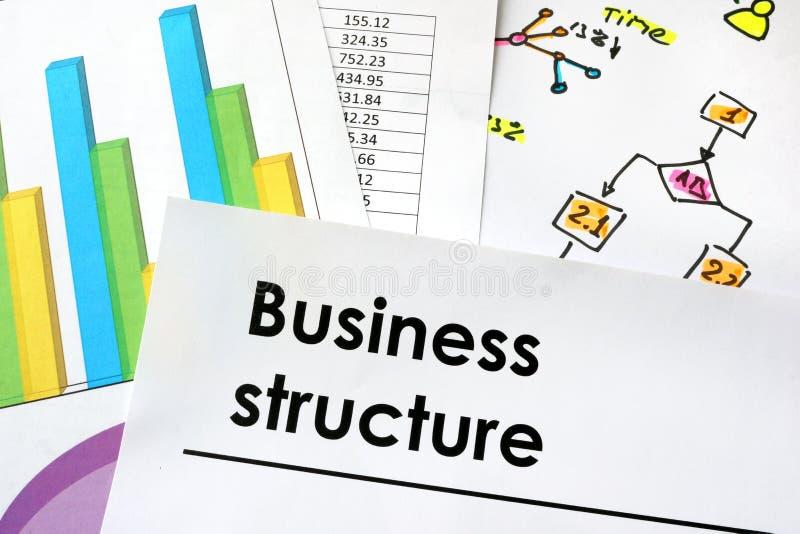 Bedrijfs structuur stock afbeelding