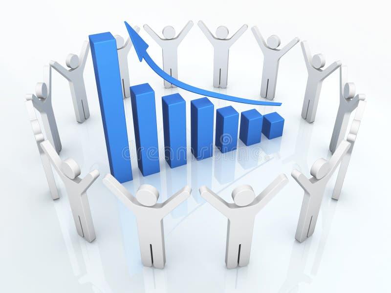 Bedrijfs succes stock illustratie