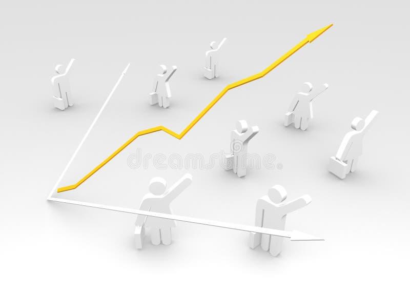 Bedrijfs succes royalty-vrije illustratie