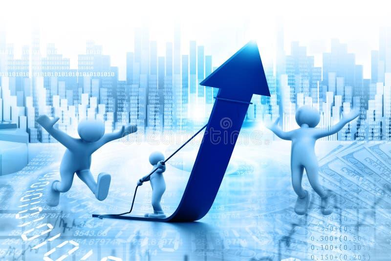 Bedrijfs succesconcept vector illustratie