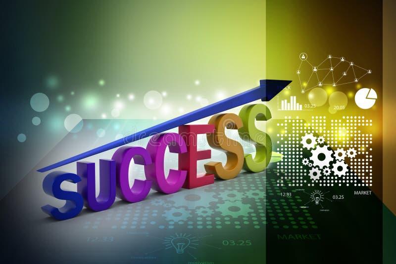 Bedrijfs succesgrafiek stock illustratie