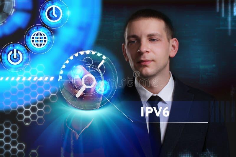 Bedrijfs, Technologie, van Internet en van het netwerk concept Jonge busine royalty-vrije illustratie