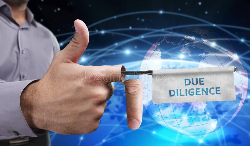 Bedrijfs, Technologie, van Internet en van het netwerk concept Jonge entrep stock illustratie