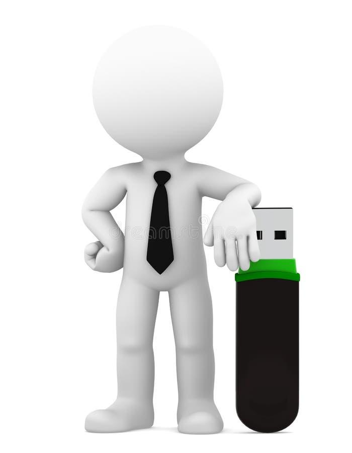 Bedrijfs technologieconcept. Geïsoleerd royalty-vrije illustratie
