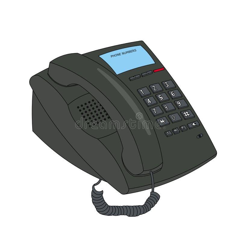 Bedrijfs telefoon stock illustratie