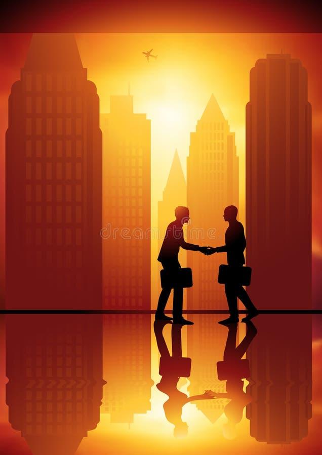 Download Bedrijfs Uitwisseling vector illustratie. Illustratie bestaande uit mensen - 10780328