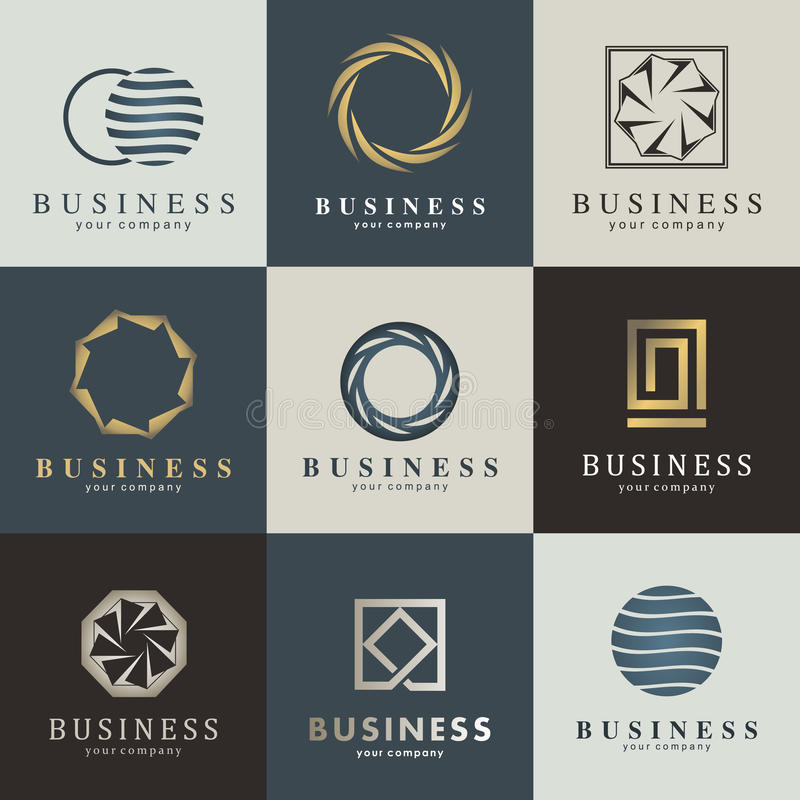 Bedrijfs vectorembleemreeks stock illustratie