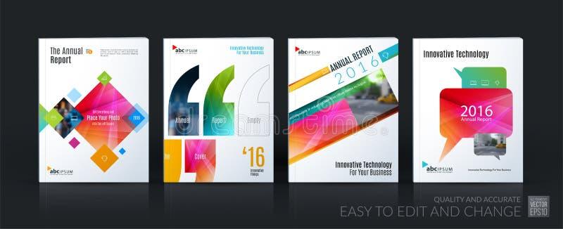Bedrijfs vectormalplaatje megareeks De brochurelay-out, behandelt modern royalty-vrije illustratie