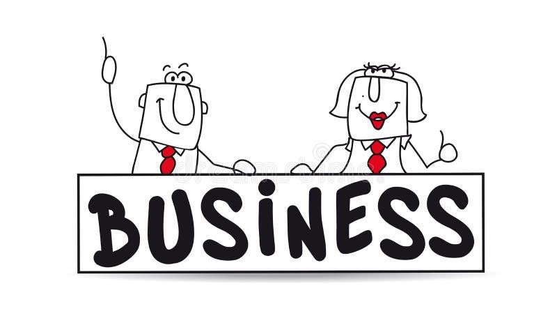 Bedrijfs vennootschap vector illustratie