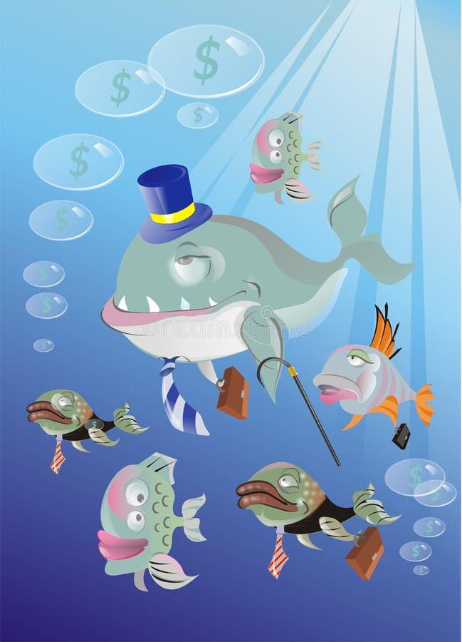 Bedrijfs vissen royalty-vrije stock foto