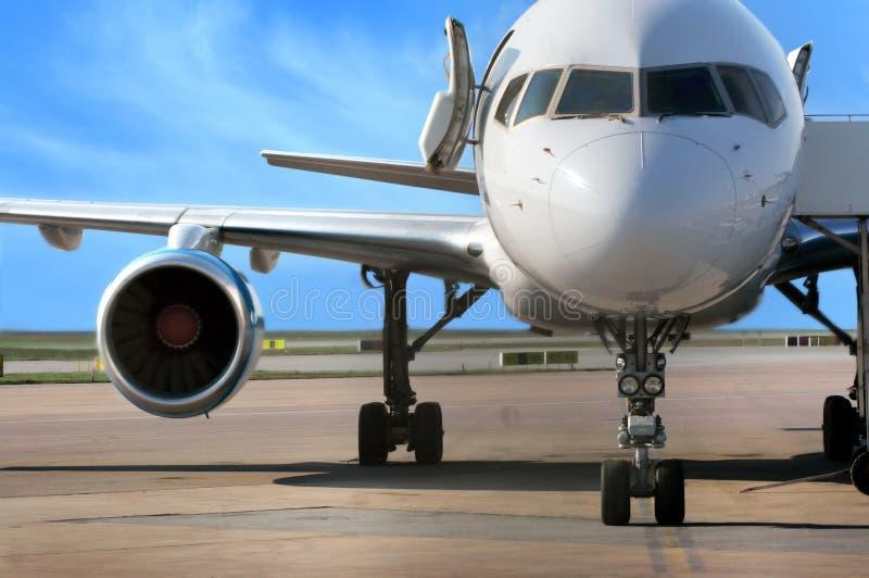 Bedrijfs vliegtuig stock afbeeldingen