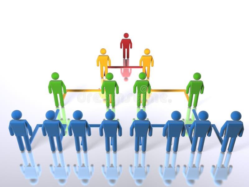 Bedrijfs volledige hiërarchie - vector illustratie