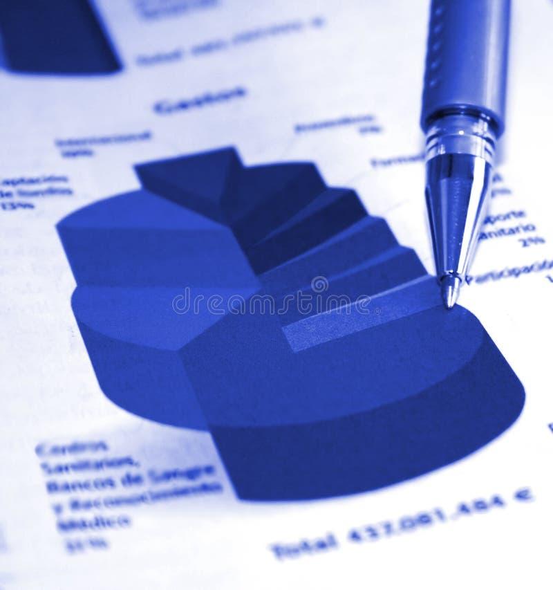 Bedrijfs voortgangsrapport royalty-vrije stock afbeelding