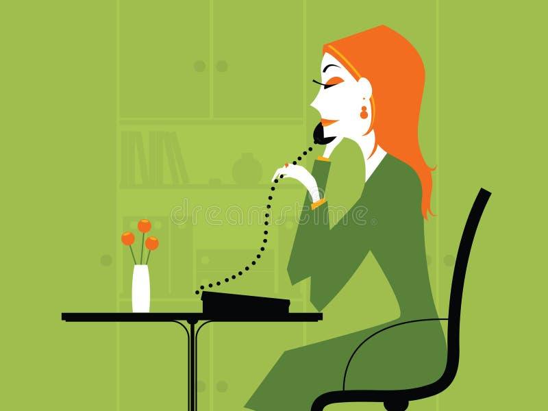 Bedrijfs Vrouw stock illustratie