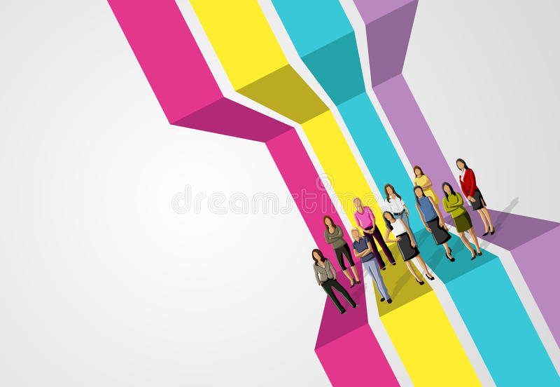 Download Bedrijfs vrouw - 2 vector illustratie. Illustratie bestaande uit modern - 54085691