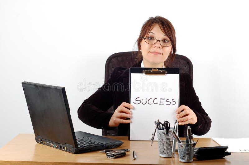 Bedrijfs vrouw bij bureau #16 stock foto