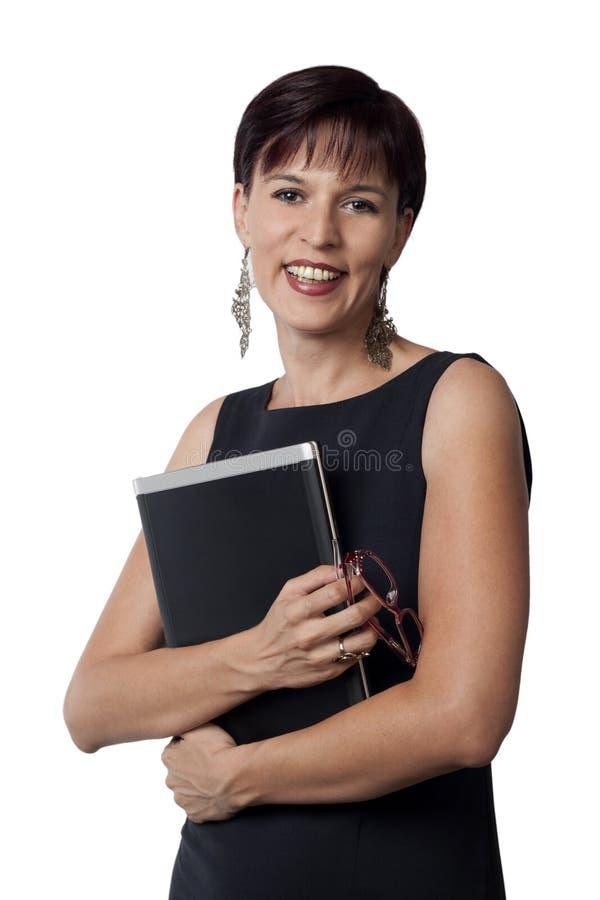 Download Bedrijfs vrouw en laptop stock afbeelding. Afbeelding bestaande uit mededelingen - 27716529