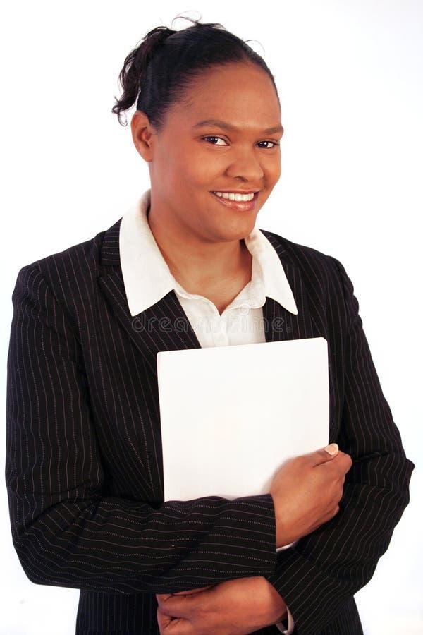 Bedrijfs vrouw, het glimlachen stock foto