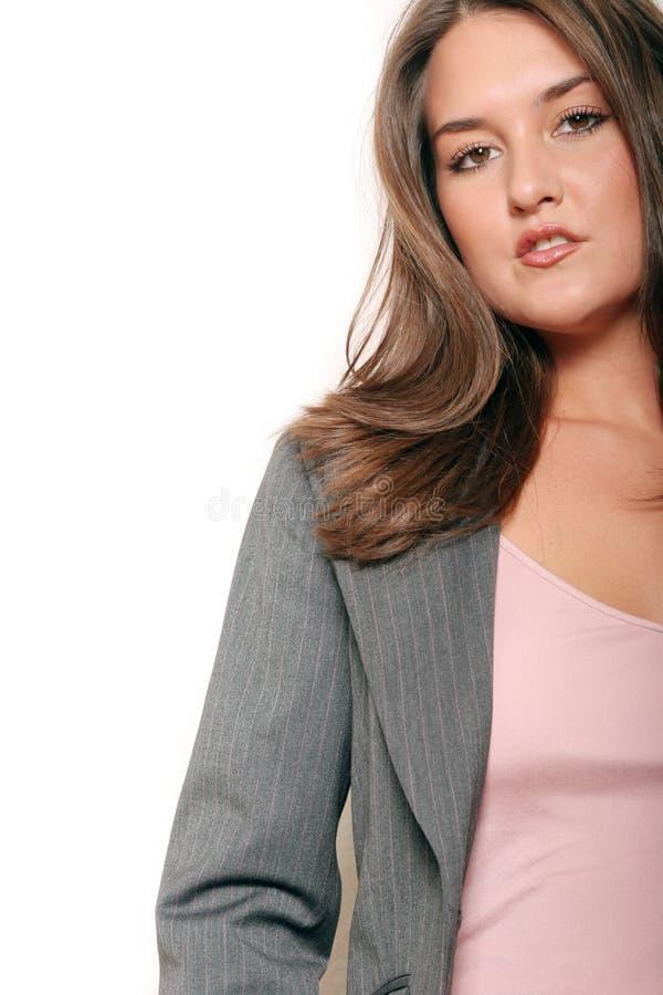 Bedrijfs vrouw in kostuum royalty-vrije stock foto