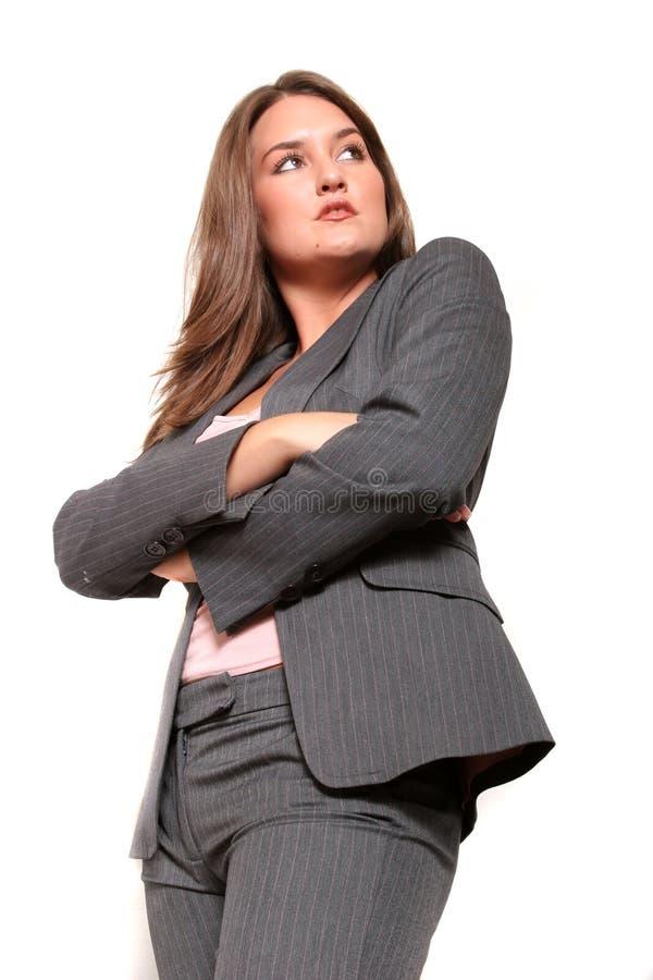 Bedrijfs vrouw in kostuum royalty-vrije stock foto's