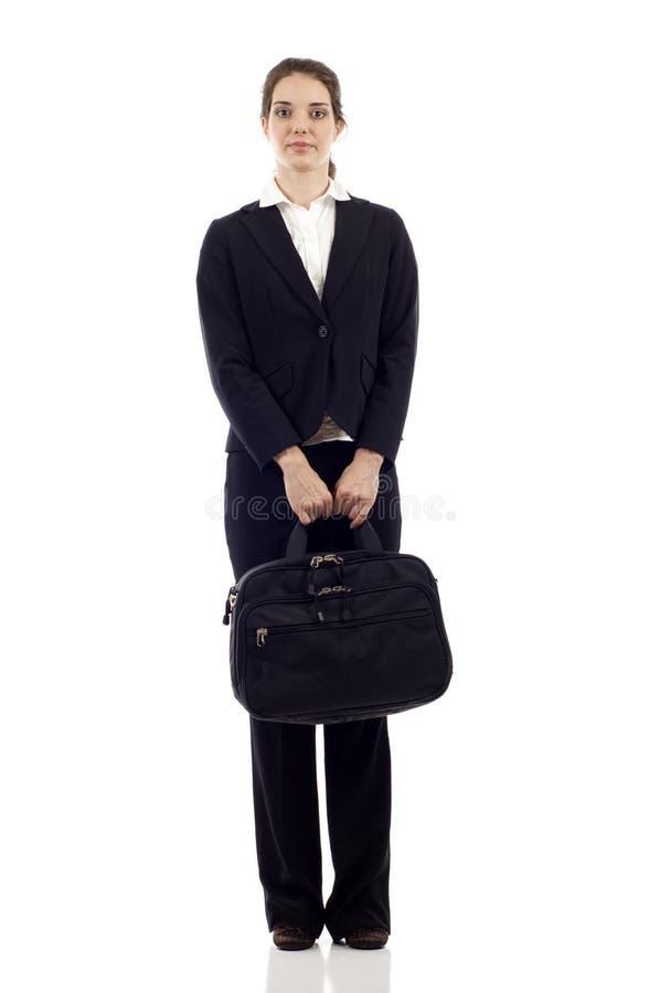 Bedrijfs Vrouw met Aktentas stock foto
