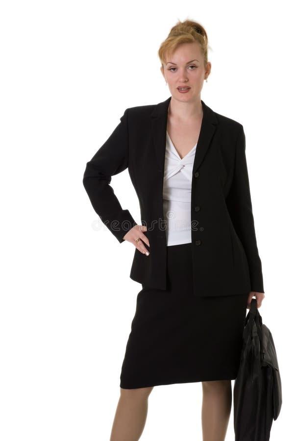 Bedrijfs vrouw met hand op heup stock foto